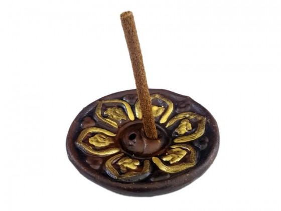 Chopstick holder Gold Lotus plate