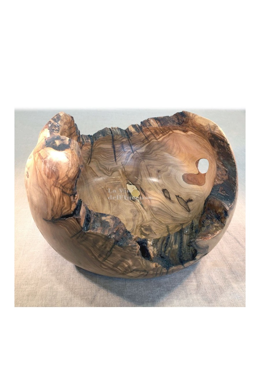 Svuotatasche in legno di olivo