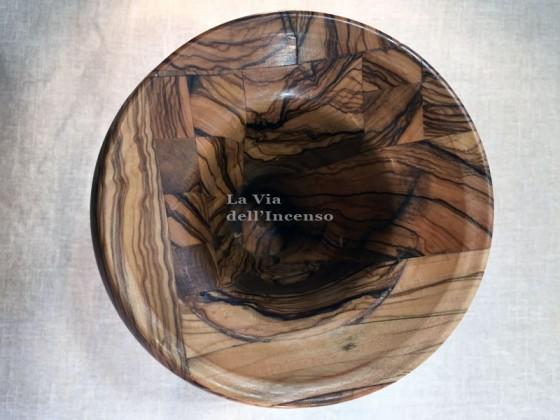 Vaso campana in legno di olivo