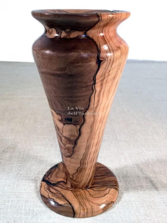 Vaso coppa in legno di olivo
