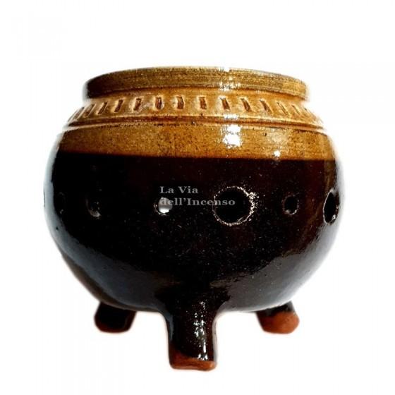 Burner Bowl in glazed terracotta
