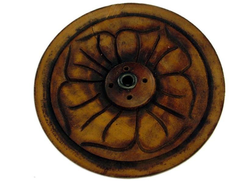 Portabastoncini Piattino legno semplice